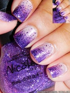 Shine bright like a diamond with this pretty #purple manicure! We  this look for Homecoming 2013!