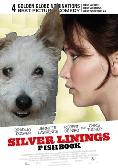 He couldn't stop thinking about kibble. Best Actress, Best Actor, Oscars 2013, Silver Lining, Golden Globes, Actresses, Actors, Movie Posters, Female Actresses