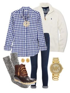 """""""Fall Y'all"""" by robramey17 ❤ liked on Polyvore featuring Polo Ralph Lauren, Frame Denim, Steven Alan, J.Crew, Sperry Top-Sider, Jennifer Zeuner, Tiffany & Co. and Michael Kors"""