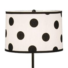 Black White Oversize Polka Dot Lamp Shade Rooms And