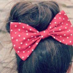 Polka dot bow