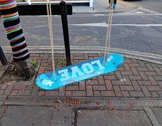 Yarnbombing + Skateboard Swing - Albert Road | Flickr - Photo Sharing!