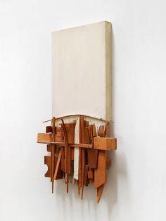 """Untitled"", 1959 By: EDWARD KIENHOLZ Abstract Sculpture, Wood Sculpture, Wall Sculptures, Abstract Art, Architectural Sculpture, Found Object Art, Assemblage Art, Conceptual Art, Edward Kienholz"
