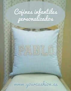 Cojines infantiles personalizados. Www.yourcushion.es