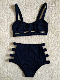 Underwear lingerie swimwear tumblr shorts black knickers cutout grunge gothic classic elegant love
