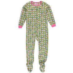 """Rene Rode Big Girls' """"Bedtime Emojis"""" Footed Pajamas (Sizes 7 - 16)"""