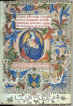Book of Hours, MS M.3 fol. 1r - Images from Medieval and Renaissance Manuscripts - The Morgan Library & Museum