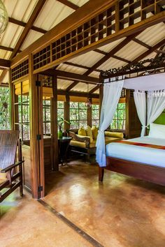 Embracing the pristine natural setting, this suite is left open to the elements. Latitude 10 Exclusive Beach Resort (Costa Rica) - Jetsetter
