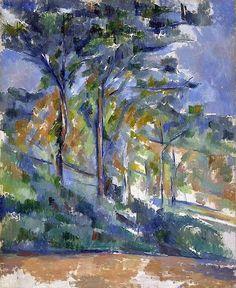 Paul Cézanne Landscape: the Forest Clearing (uncertain 1900-1904) oil on canvas 62.2 x 51.5 cm Fitzwilliam Museum, Cambridge UK