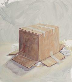 """""""Non capovolgere"""" 2009, olio su tela, 90 x 80"""