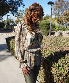 Fun Fierce Fabulous Beauty Over 50!: Fashion | Taupe and Olive Green Stirups