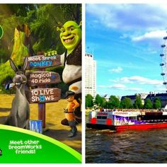 Description: Take the children to Shrek's Adventure! a brand new family fun experience on the South Bank, London, not only will you get a ticket to the interactive Shrek's Adventure! but you also get a 24 hour ticket for the River Red Rover hop on hop off cruise. This package is a great day out …