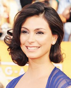 Short Curly Celebrity Hairstyles - Morena Baccarin from #InStyle