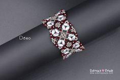 IrisDuo Beading Pattern - Bracelet Beading Pattern - Déco Bracelet TUTORIAL - Digital File by SidoniasBeads on Etsy https://www.etsy.com/listing/574339214/irisduo-beading-pattern-bracelet-beading