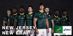 The Springboks have launched a brand new home shirt ahead of the 2017 international season. It's South Africa's first totally new jersey since and is once again produced by ASICS. Go Bokke, Go Getter, New Jersey, Rugby, Asics, Work Hard, Product Launch, Brand New