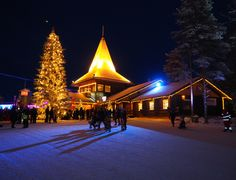 Christmas has officially been opened by Santa Claus himself at the Arctic Circle in Lapland!