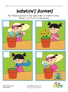 Sequence Worksheets for Kindergarten. 20 Sequence Worksheets for Kindergarten. March Sequence Writing for Beginning Writers Story Sequencing Pictures, Story Sequencing Worksheets, Sequencing Cards, Sequencing Activities, Writing Worksheets, Sequencing Events, Nursery Worksheets, Printable Worksheets, Printables