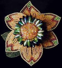 Boa's Botanicals - French beaded flower I can't begin to imagine how long this took.