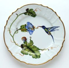 Hummingbird Dinner Plate from Anna Weatherley in Yardley, PA from Pink Daisy