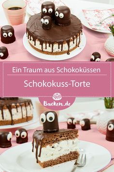 Chocolate marshmallow cake Chocolate kisses in a cake with chocolate kisses as decoration …. We show you how to create the great chocolate cake, for example for a birthday party. Schokokuss-Torte 300 Source by backende Chocolate Marshmallow Cake, Homemade Marshmallow Fluff, Chocolate Marshmallows, Chocolate Kisses, Cake Chocolate, Icing Recipe For Cake, Frosting Recipes, Cookie Recipes, Menu Halloween