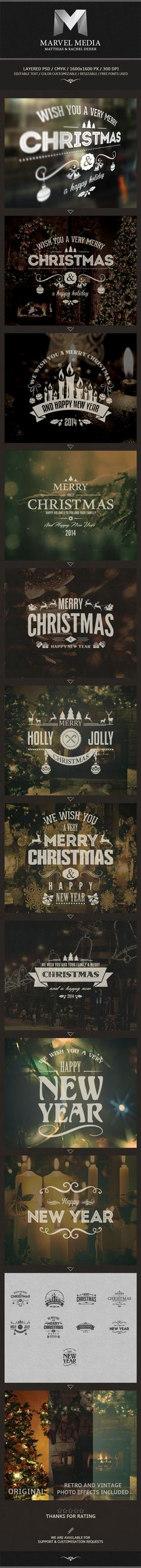 Christmas And New Year Labels on Behance