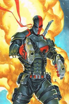 The Comic Ninja : Photo Dc Comics Characters, Dc Comics Art, Comic Book Characters, Comic Character, Comic Books Art, Comic Art, Dc Deathstroke, Deathstroke The Terminator, Deadshot