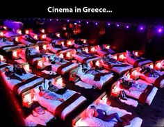 Awesome cinema in Greece.