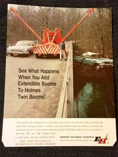 HOLMES 750 ROTATING . Truck Camper, Tow Truck, Chevy Trucks, Old Vintage Cars, Vintage Ads, Cool Trucks, Big Trucks, Car Hauler Trailer, Haha So True