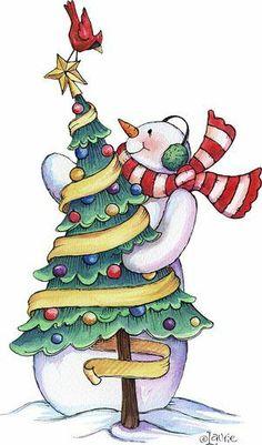 snowmen.quenalbertini: Christmas snowman by Laurie Furnell