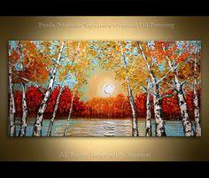 Pintura 48 lago Original oleo sobre lienzo paisaje
