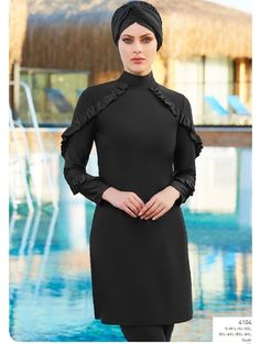 Full Cover Lycra Burkini Swimsuit 14104 is one of the most stylish set of 2019 spring - summer collection Full Cover Lycra Burkini Swimsuit 14104 details, Fabric is made by Pa - Elastane swimsuit Full cover lycra burkini swimsuit 410 Islamic Swimwear, Muslim Swimwear, Swimming Gear, Swimming Costume, Modele Hijab, Modest Swimsuits, Red Swimsuit, Hijab Fashion, Iu Fashion