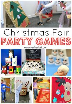 DIY Christmas Party Games Ideas for School Fairs and Home DIY Christmas Party Game Ideas. Great Party Games for School Fairs or in the classroom. or party games for Family Christmas parties. Easy to make Christmas Party Games For Kids, Christmas Fair Ideas, School Christmas Party, Holiday Party Games, Christmas Party Decorations, Kids Christmas, Frozen Christmas, Christmas Projects, Bowling