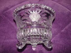 Vintage SALE Candle Holder Crystal 3 by BackStageVintageShop
