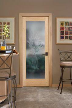10Lite VGroove Decorative Glass Interior Door HomeStory French