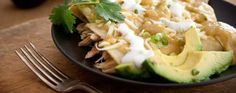 Green Chile Turkey Enchiladas - two of my favorite foods together...Heavenly!