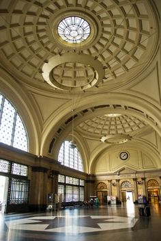 Antwerp train station in Belgium