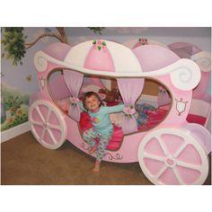 princess bed frame | princess carriage bed in kids bedroom furniture ebay sale just