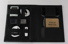 Vintage Book Travel-Tech Organizer