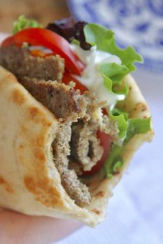 Homemade Greek gyros are not impossible to make at home, as I had originally thought. You'll see that you can re-create these yummy Mediterranean delights. Lamb Gyro Recipe, Homemade Gyro Recipe, Homemade Tzatziki Sauce, Greek Gyro Meat Recipe, Gyro Sauce Recipe, Lamb Recipes, Greek Recipes, Cooking Recipes, Chicken Recipes