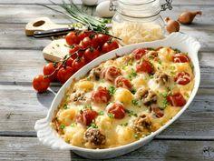 Gratin mit Tomate, Hackfleisch und Käse ist ein Rezept mit frischen Zutaten aus der Kategorie Fruchtgemüse. Probieren Sie dieses und weitere Rezepte von EAT SMARTER!