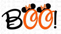 Disney Halloween Minnie Mouse BOO!  Iron On Transfer for T Shirts Personalized FREE by FIGandBEAR on Etsy https://www.etsy.com/listing/474359963/disney-halloween-minnie-mouse-boo-iron