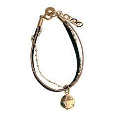 bracelet NUAGE Marron noir et doré - Chorange