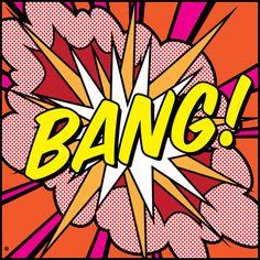 Bang! Art Print.Voor naamkaft in het begin van het jaar?