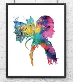 Game of Thrones Poster, Daenerys Targaryen Art Print, Watercolor Print, Dragon, Movie Poster, Home Decor, Wall Art, Fan Art, Fine Art - 235