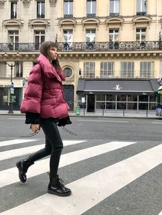 Cherry colour feather light goose down jacket, water repellant. Fashion Brand, Cherry, Feather, Winter Jackets, Street Style, Colour, Casual, Women, Winter Coats