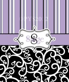 """Personalized Baby or Toddler Plush Blanket - Purple Pin Stripe & Black Swirl - 30"""" x 40"""" All Themes Available. $49.00, via Etsy."""