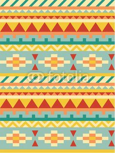 Bright aztec pattern - Buy this stock vector and explore similar vectors at Adobe Stock Pattern Images, Pattern Art, Pattern Design, Pattern Ideas, Loom Patterns, Textures Patterns, Print Patterns, Blanket Patterns, Embroidery Patterns