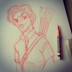 My #RobinHood for #sketch_dailies is not only late, but also a quicky… Sorry about that! #drawing #sketch #quicksketch #doodle #girlsinanimation