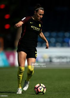 Lucy Bronze of Manchester City in action during the WSL 1 match between Reading FC Women and Manchester City Women on May 2017 in High Wycombe, England. Reading Fc, England Football, English Premier League, May 7th, Soccer Players, Manchester City, Female Football, Women's Football, Sports Women