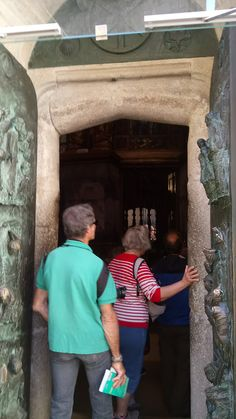 The holy door at the Cathedral in Santiago de Compostela